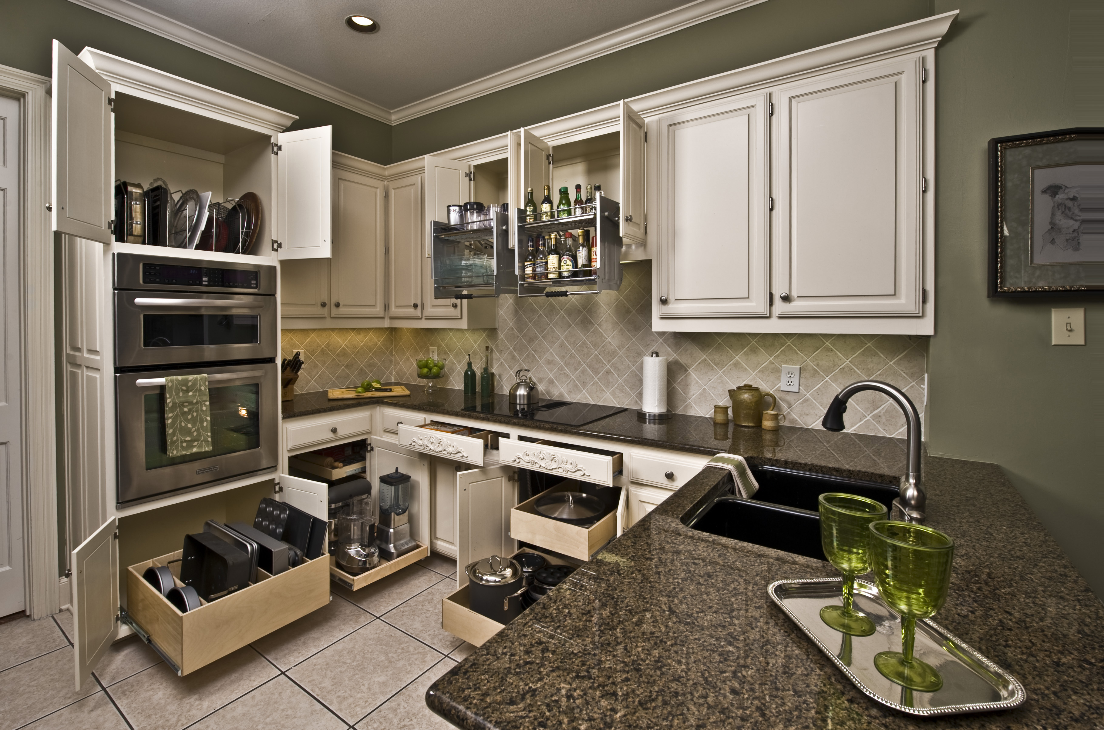 Los Angeles Pull Out Shelves Kitchen Cabinets Ramsey Interiors